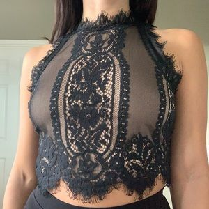 Date night lace top